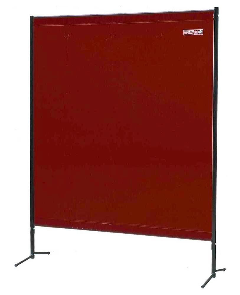 Portable protective curtain TSV 2B, red brown