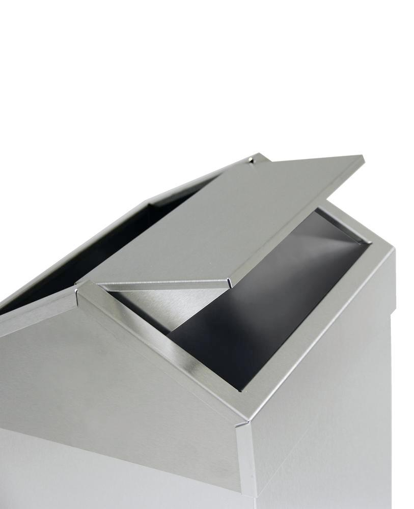 Self-ext. waste collector in stainless steel, 90 litre - 2