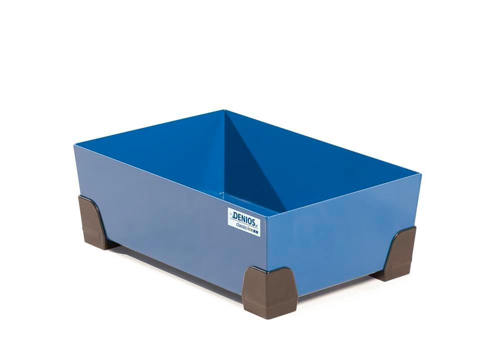 Spill tray for small containers classic-line in steel, painted, no grid, 30 litre, 584x392x200 - 2