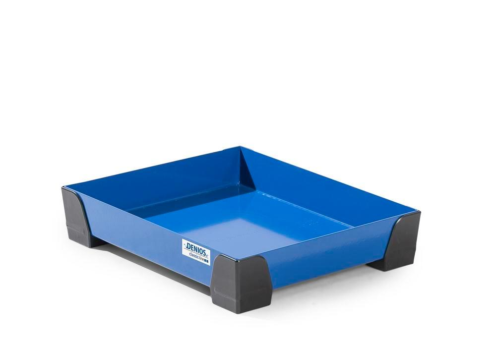 Spill tray for small containers classic-line in steel, painted, no perf sheet, 10 litres, 500x400x95 - 2