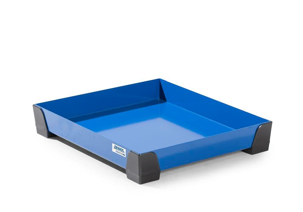 Spill tray for small containers classic-line in steel, painted, no perf sheet, 15 litres, 500x600x95 - 1