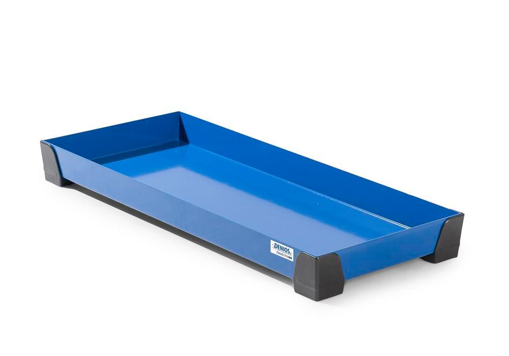 Spill tray for small containers classic-line in steel, painted, no perf sheet, 29 litres, 987x400x95