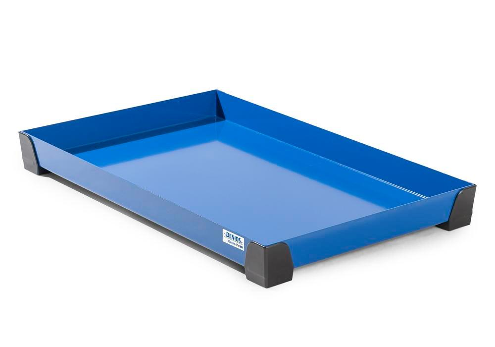 Spill tray for small containers classic-line in steel, painted, no perf sheet, 30 litres, 987x600x95