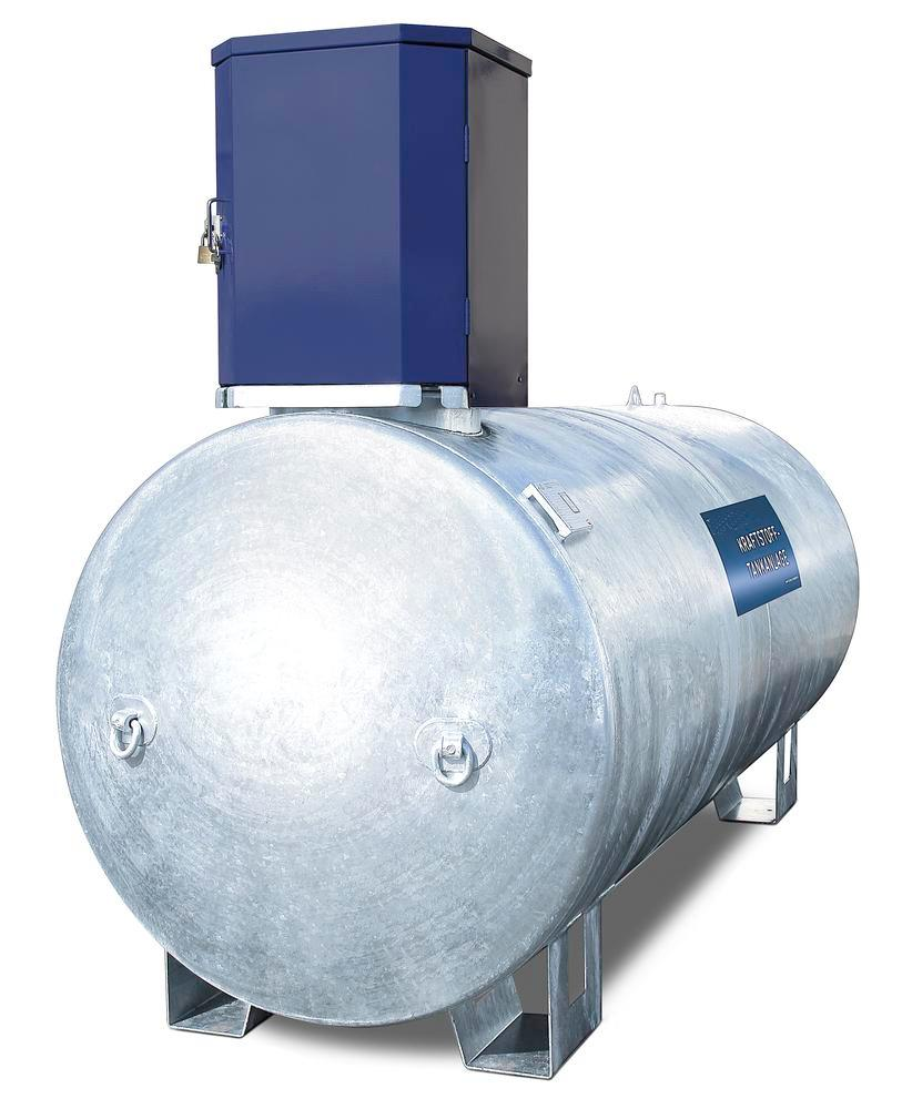 Stationary fuel tank KA7500 for diesel and heating oil, 7500 litre, with 230V pump and accessories