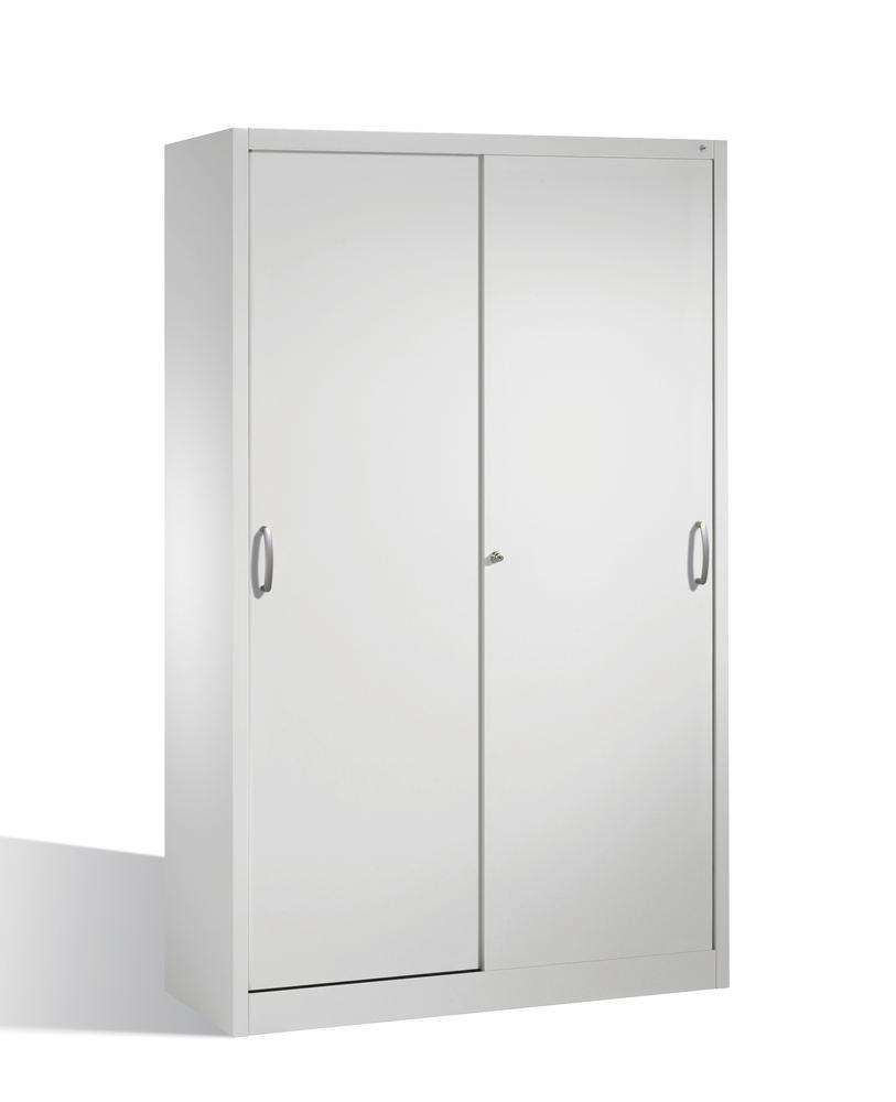 Tool storage cabinet Cabo with sliding doors, 4 shelves, W 1200, D 500, H 1950 mm, grey