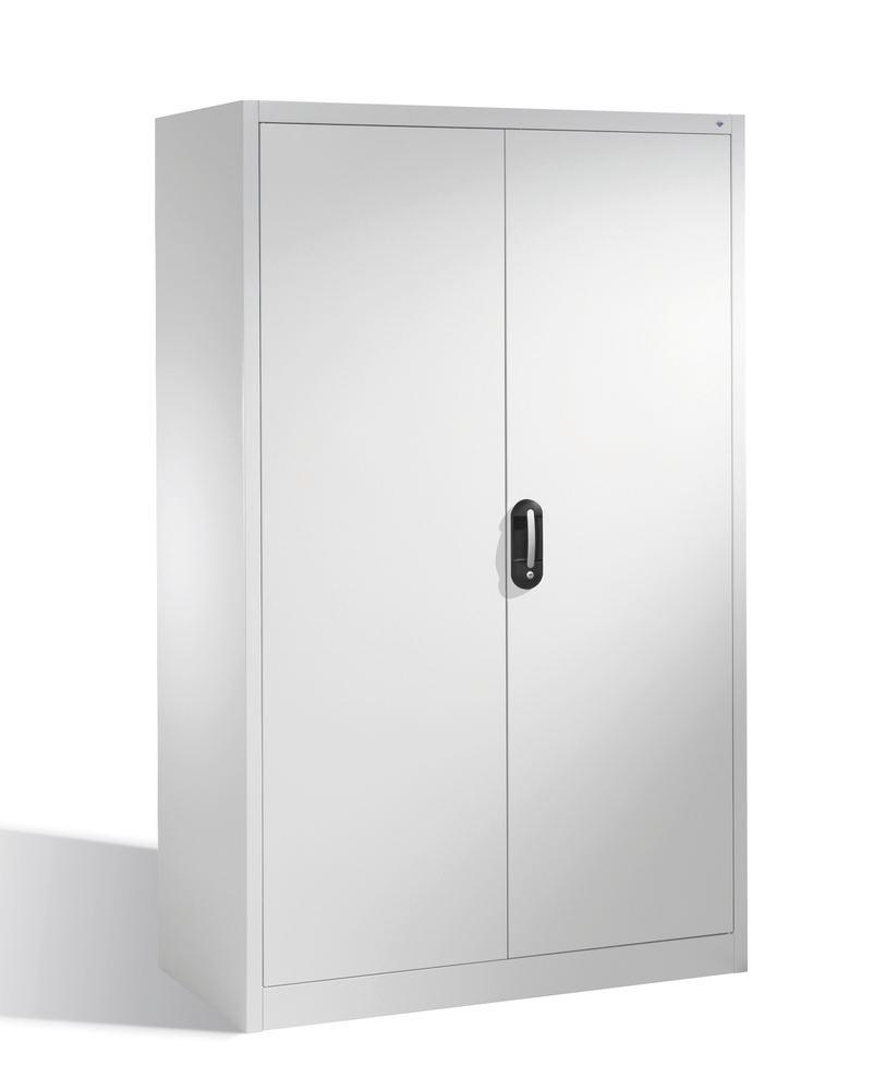 Tooling and equipment cabinet Cabo, 4 shelves, W 1200, D 600, H 1950 mm, grey