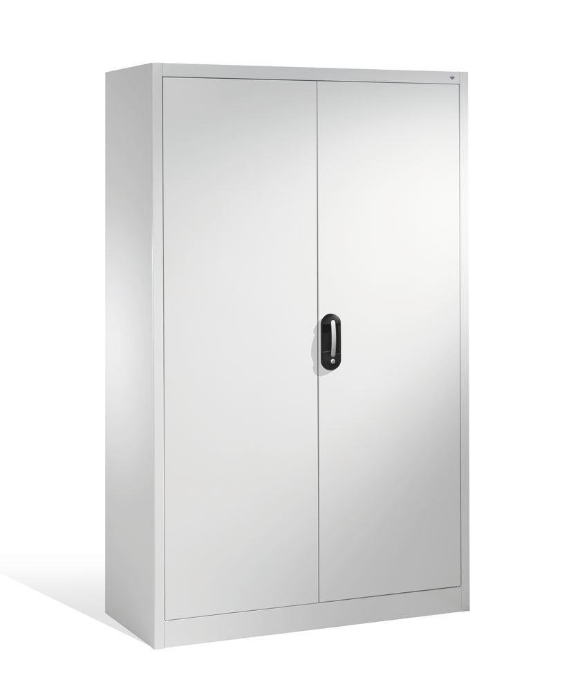 Tooling and equipment cabinet Cabo, wing doors, 10 compartments, W 1200, D 500, H 1950 mm, grey