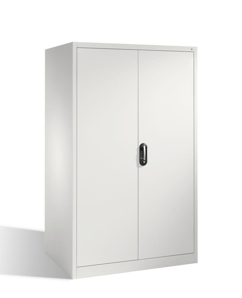 Tooling and equipment cabinet Cabo-XXL, wing doors, 4 shelves, W 1200, D 800, H 1950 mm, grey