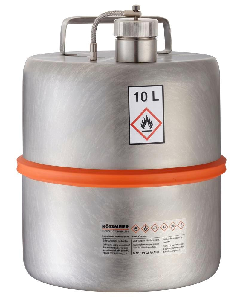Transport container in stainless steel, 10 litre volume - 1