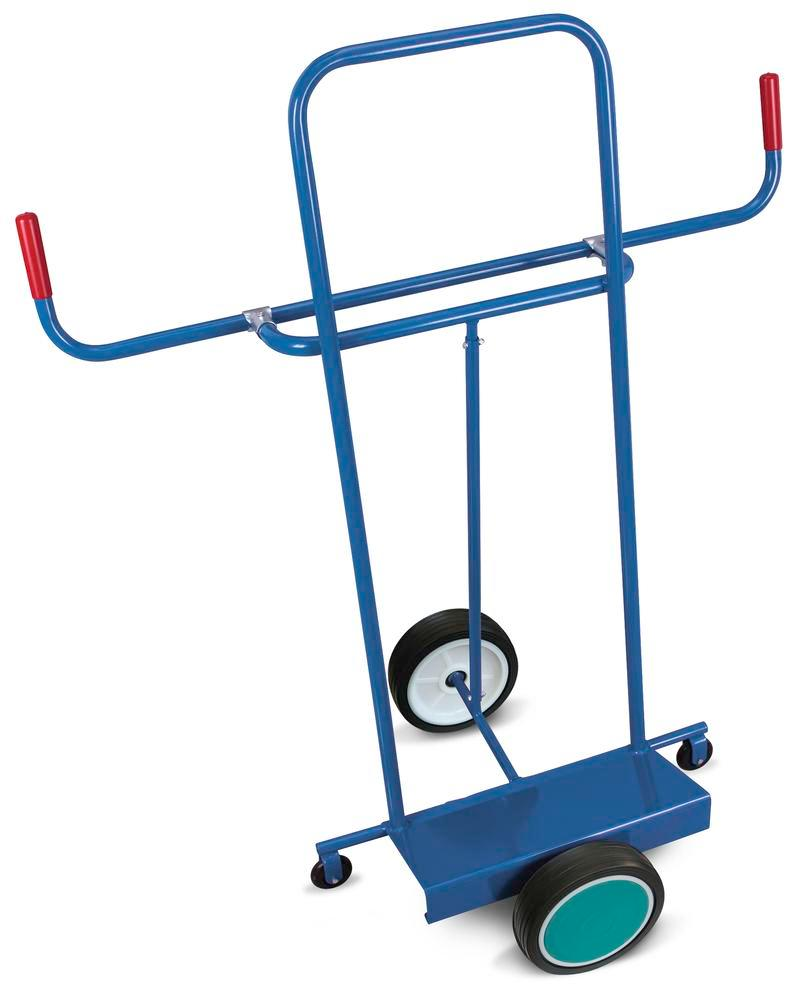 Board trolley DENIOS classic-line, steel, solid tyres, 2 support castors, base 500x200mm, 250kg - 1