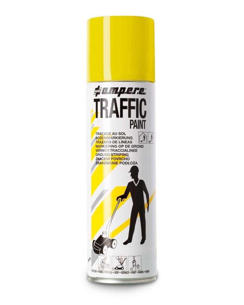 Floor marking paint TRAFFIC, yellow, 1 box with 12 x 500ml cans = 1 Pack