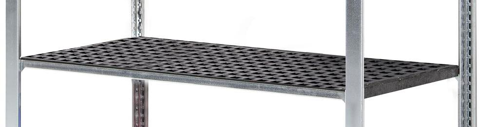 Polyethylene grid shelf for containment shelving GKG 1360