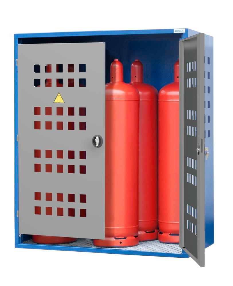 Gas cylinder cabinet Model LB 6, for 6 x 33 kg cylinders or 12 x 11 kg cylinders, 2-wing door