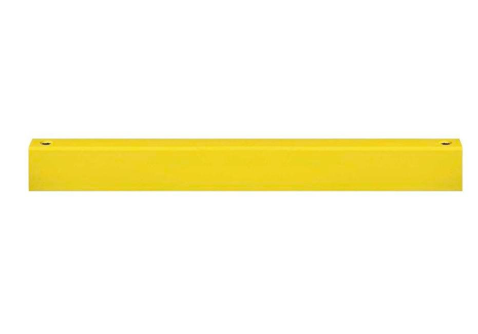 Safety barrier rail crossbar, yellow plastic-coated, for setting in concrete, incl. screws, 2000 mm - 1