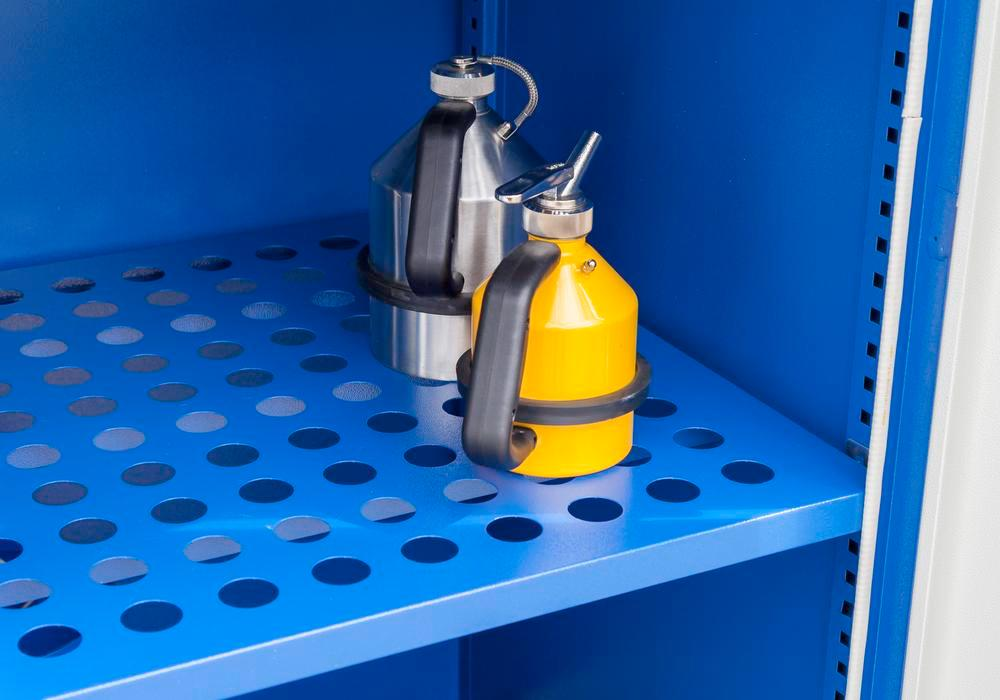 Shelf for HazMat depot Securo Model SC, blue