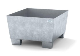Spill pallet classic-line in steel for 1 drum galv., accessible underneath, no grid, 885x815x478-w280px