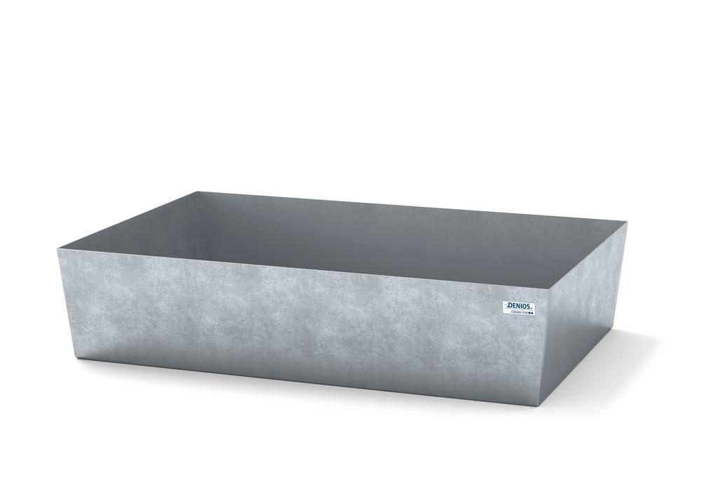 Spill pallet classic-line in steel for 1 drum, galvanised, no grid, 1236x815x255