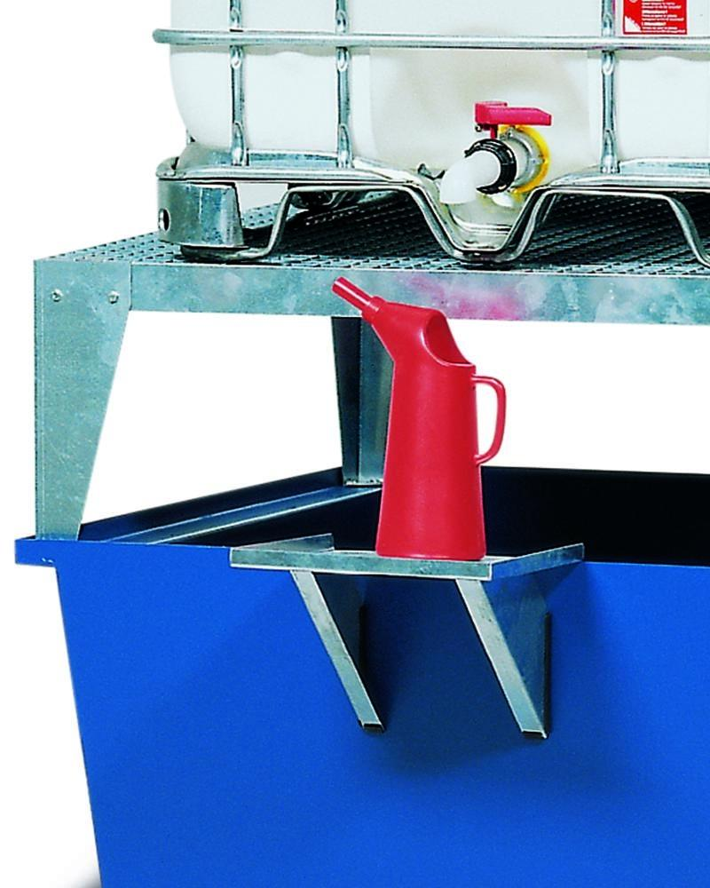 Add on dispensing tray for IBC spill pallets