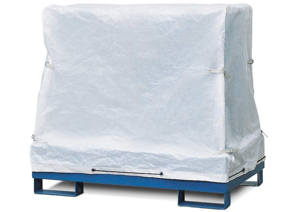 External cover for sump pallet PSW 2.4, high-quality fabric, WxDxH 1260x1260x1100 mm