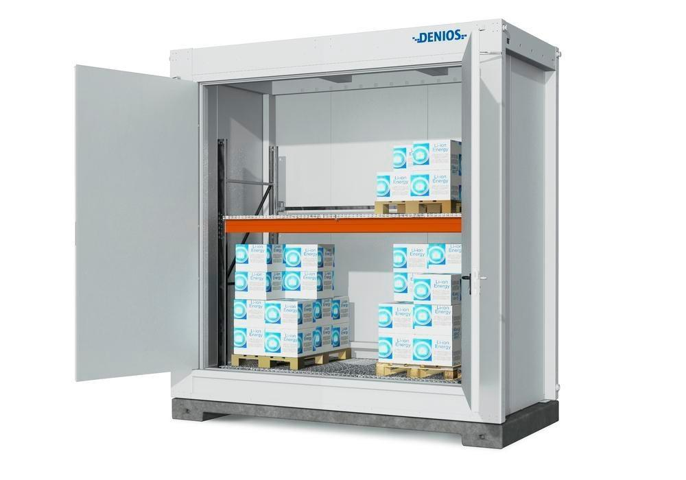 Fire-rated storage container RFP Li-Ion for lithium energy storage devices, store with shelving - 3