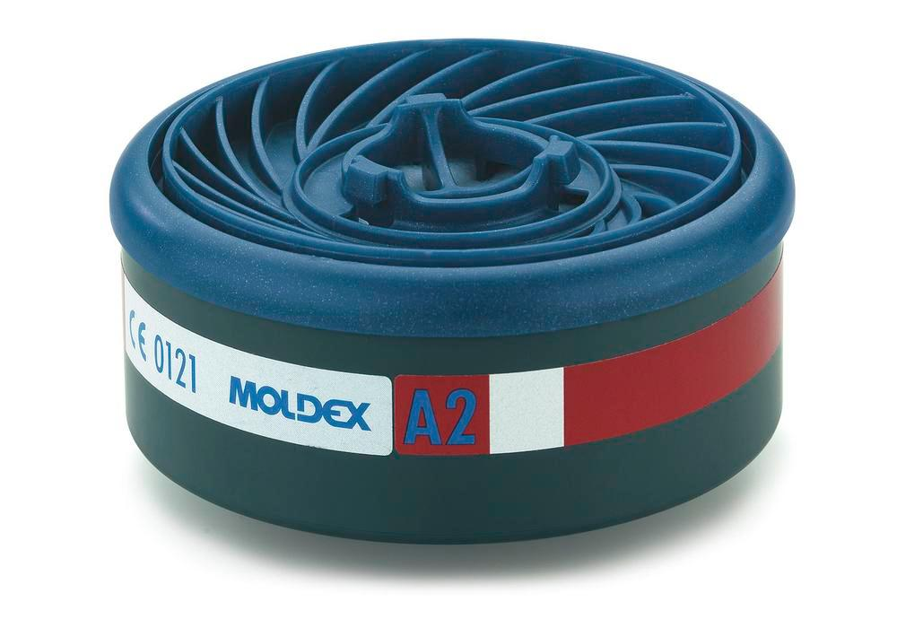 Moldex EasyLock gas filter A2, for series 7000 and 9000 masks, Pack = 8 pieces - 1
