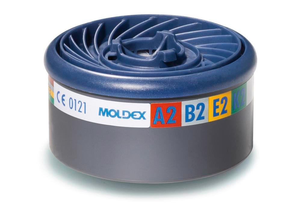 Moldex EasyLock gas filter A2B2E2K2, for series 7000/ 9000 masks, Pack = 8 pieces
