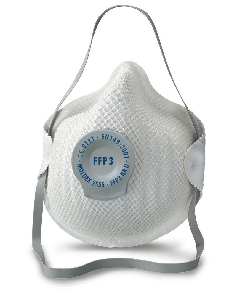 Moldex respirator mask Classic 2555 , FFP3 NR D, pre-shaped, with exhale valve, Pack = 20 pieces