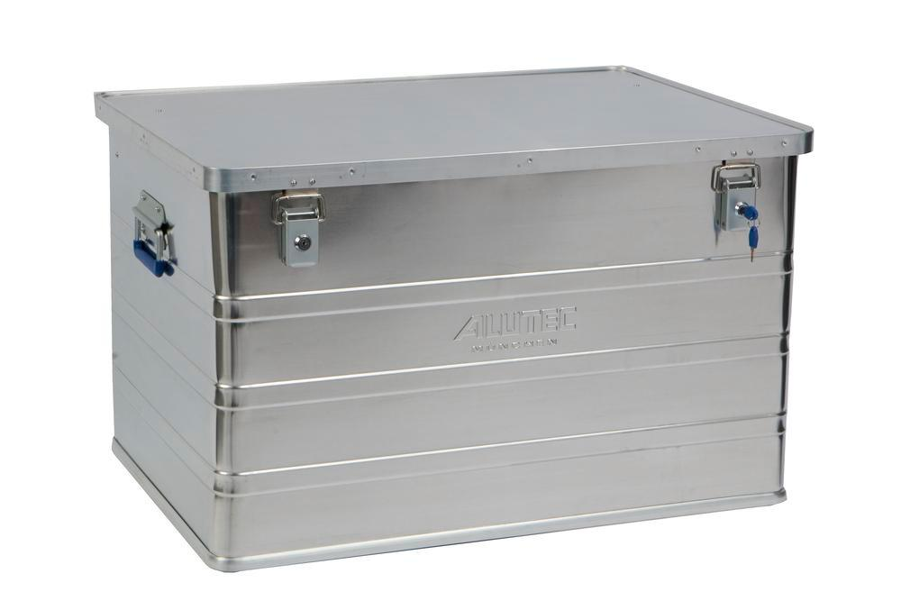 Aluminium box Classic, without stacking corners, 186 litre capacity