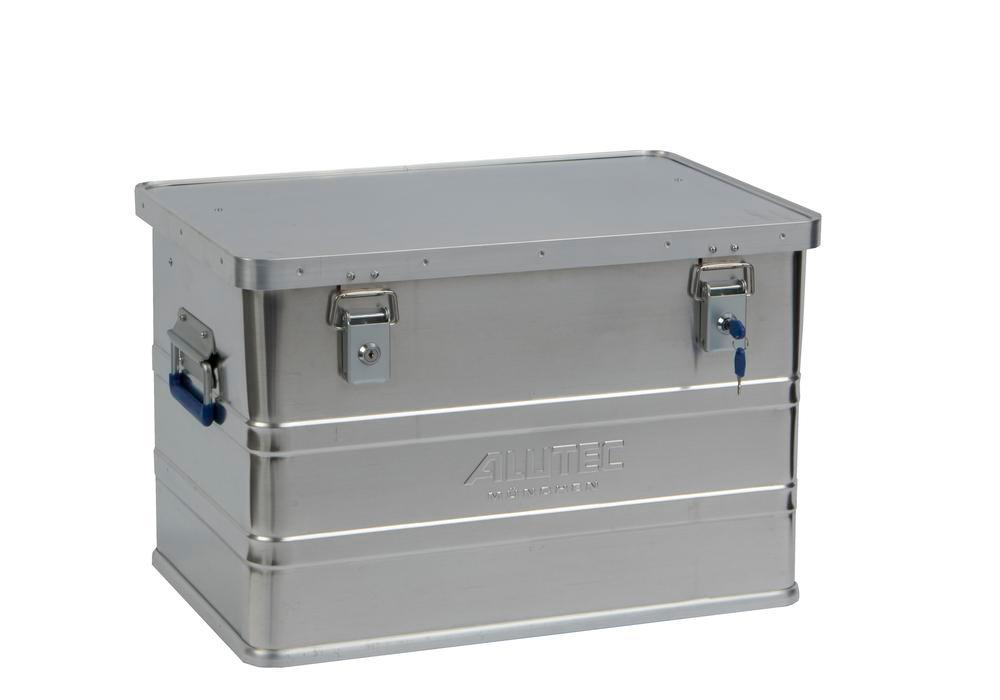 Aluminium box Classic, without stacking corners, 68 litre capacity