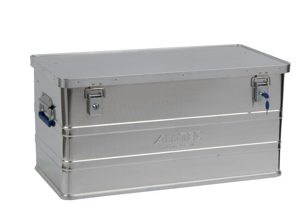 Aluminium box Classic, without stacking corners, 93 litre capacity