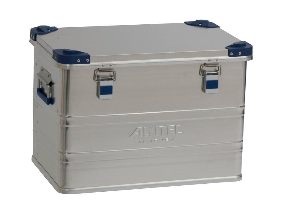 Aluminium box Industry, with stacking corners, 73 litre volume