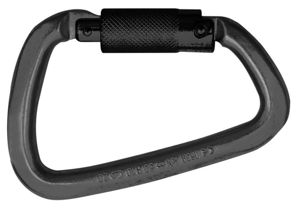 Carabiner HMS, Steel Tri, for attaching to fall arrest equipment - 1