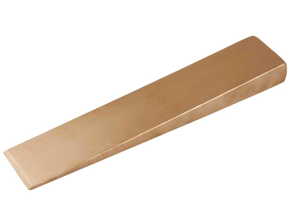 Flange wedge 180 x 50 x 19 mm, special bronze, spark-free, for Ex zones