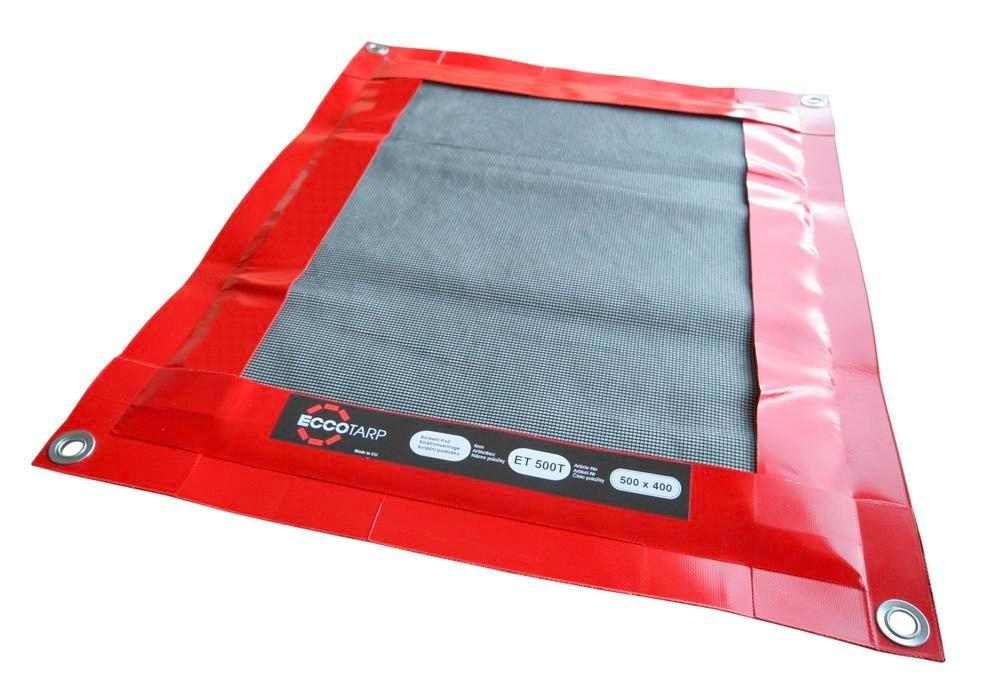 Folding reusable drip tray with replaceable absorbent mat, 580 x 480 mm, 1 L