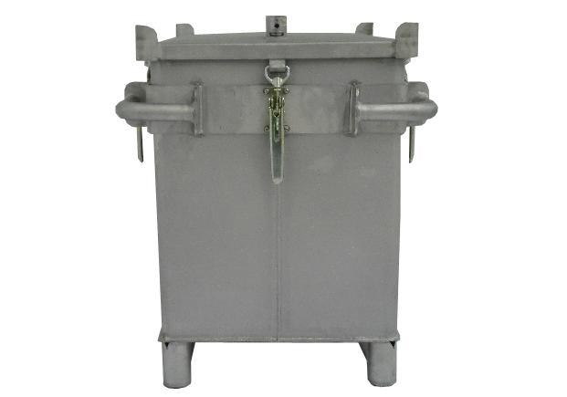 Lithium-ion battery transport box in metal, volume 187 l, S-Box X1, filling PyroBubbles®