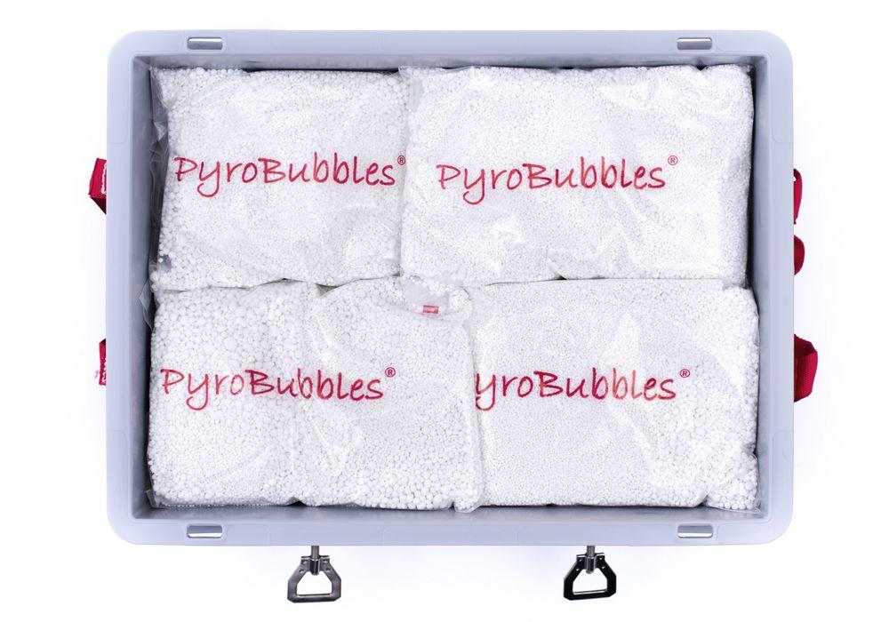 Lithium-ion battery transport box in plastic, volume 84 l, S-Box 2 Basic, filling PyroBubbles®