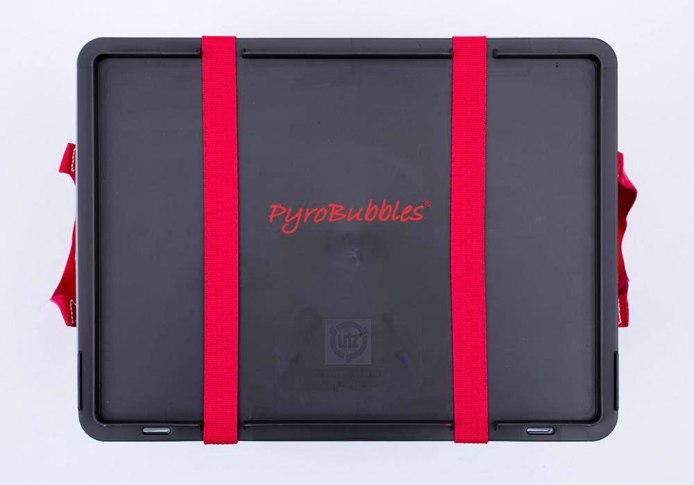 Lithium-ion battery transport box in PP,18 l, XS-Box 1 Basic, filling PyroBubbles® - 2
