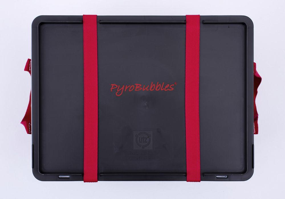 Lithium-ion battery transport box in PP, 23 l, XS-Box 2 Basic, filling PyroBubbles®