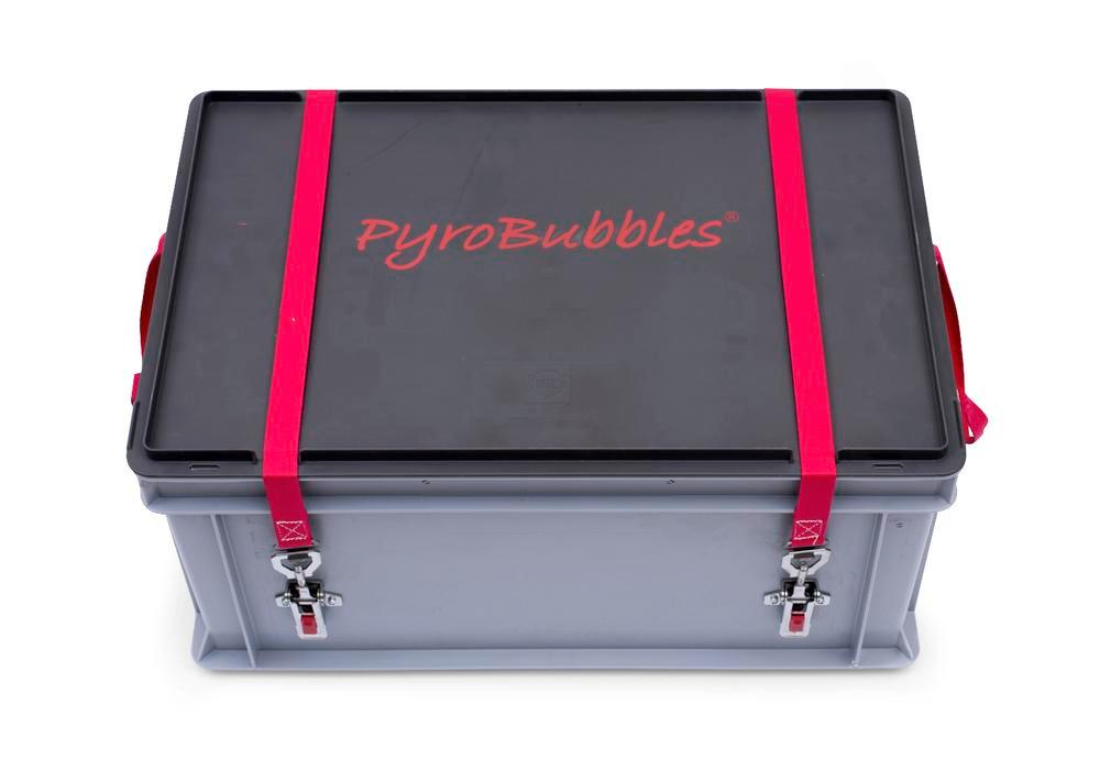 Lithium-ion battery transport box in PP, 56 l, S-Box 1 Basic, filling PyroBubbles®