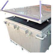 Lithium-ion battery transport box in stainless steel, 2603 l, XXL-Box, filling PyroBubbles® - 4