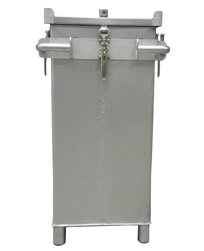 Lithium-ion battery transport box in stainless steel, 309 l, S-Box X2, filling PyroBubbles®
