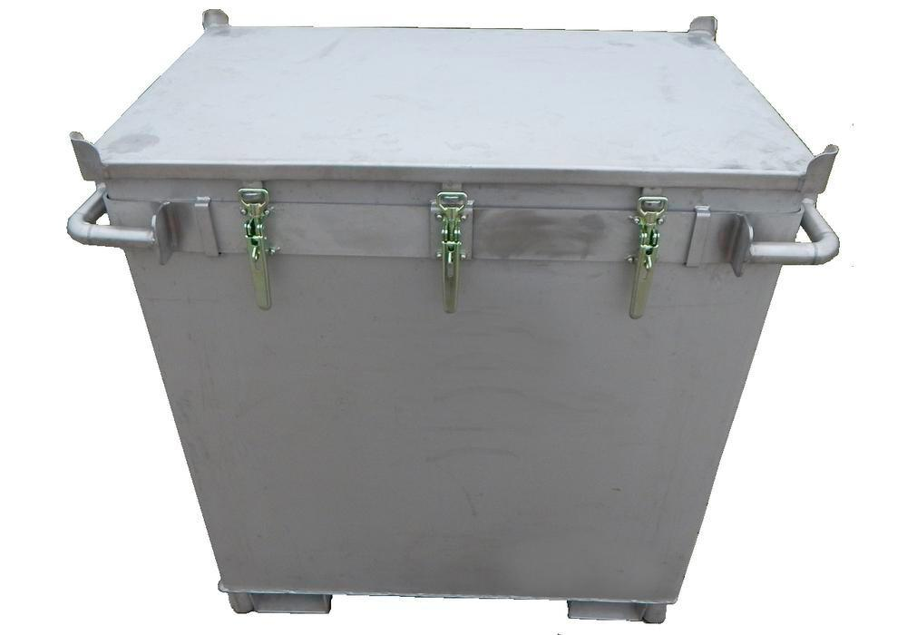 Lithium-ion battery transport box in stainless steel, 800 l, M-Box X2, filling PyroBubbles® - 2