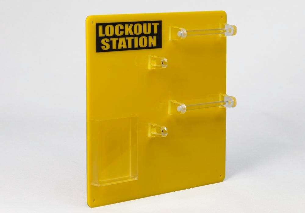 Lockout board for 10 users, for clear storage of locks and accessories - 3