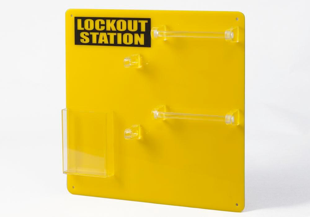 Lockout board for 10 users, for clear storage of locks and accessories - 4
