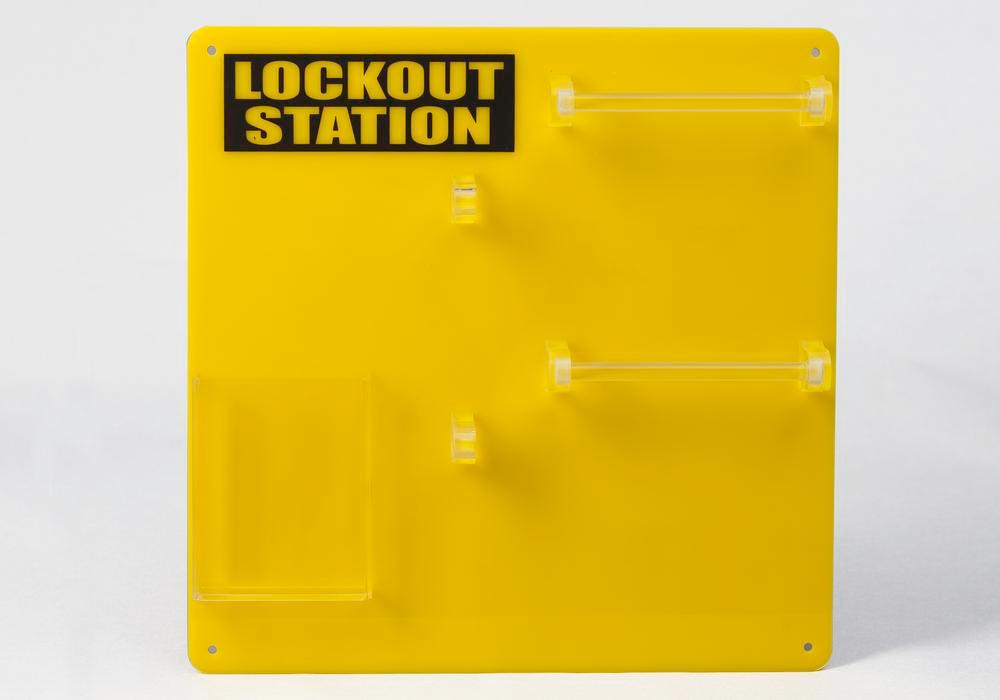 Lockout board for 10 users, for clear storage of locks and accessories