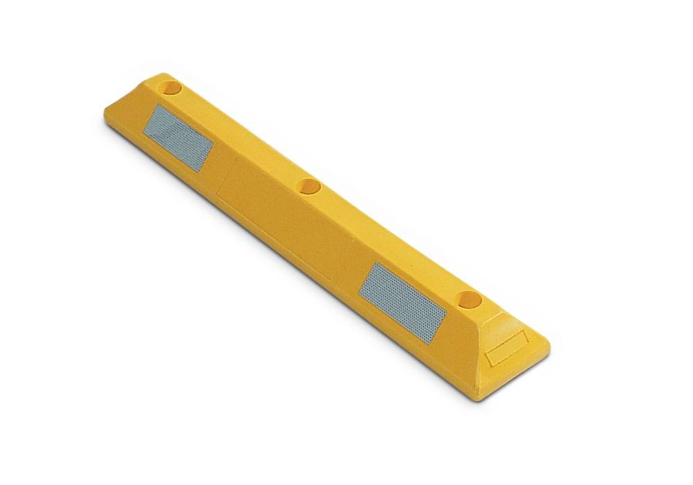"Parking bay marker PS 9, ""parking stop"", polyethylene (PE), yellow"