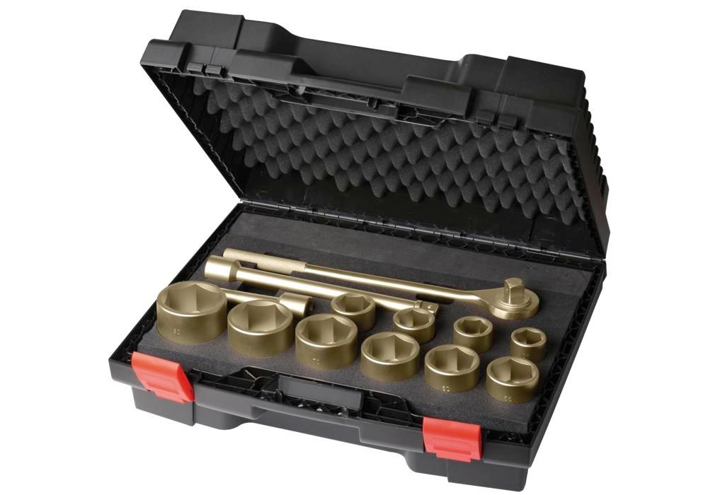 "Ratchet set 1"", 24 piece, 36 - 80 mm plus 1.1/2 - 3"", special bronze, spark-free, for Ex zones"