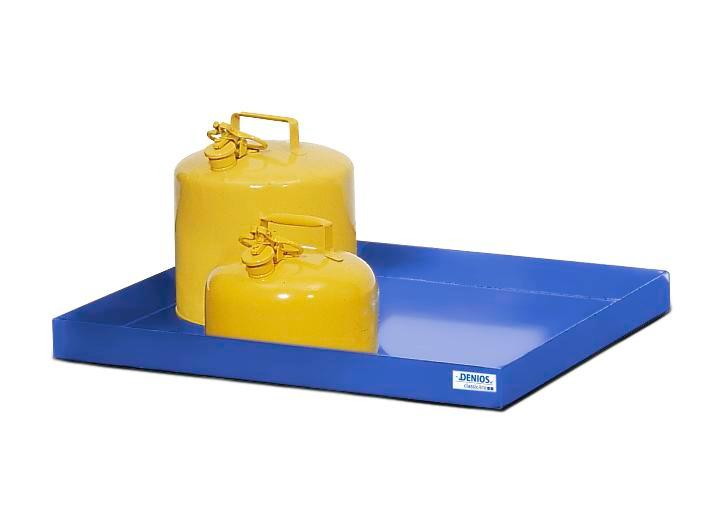 Spill tray for small containers classic-line in steel, painted, 30 litre, 987x600x75