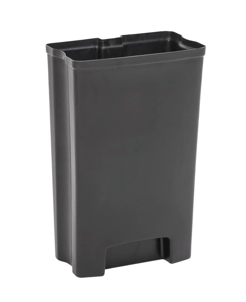 Sturdy inner container in plastic for recyclable material container 50 litres, black - 1