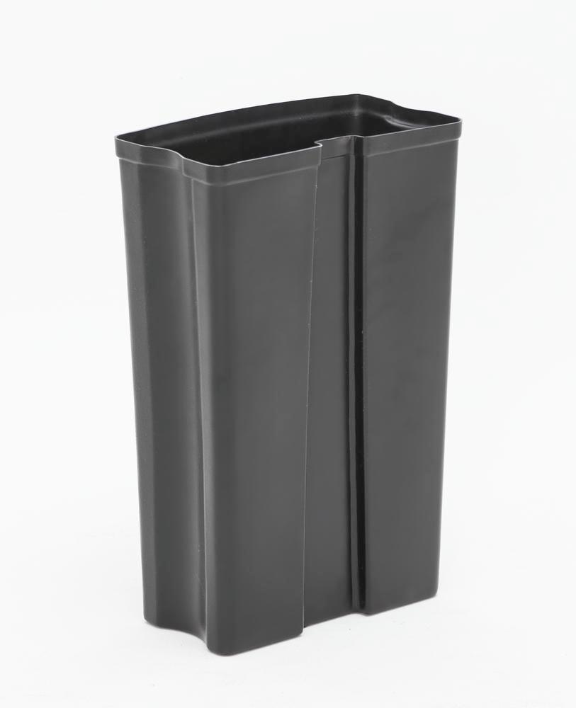 Sturdy inner container in plastic for recyclable material container 50 litres, black - 2